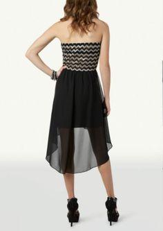 Bow Chevron High Low Dress   Dressy   rue21