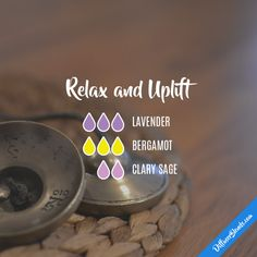 Relax and Uplift - Essential Oil Diffuser Blend