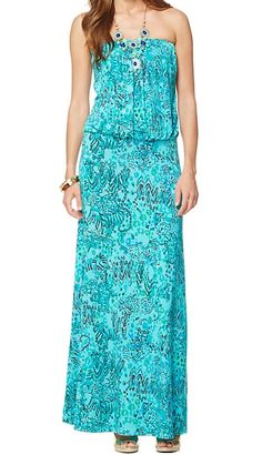 Lilly Pulitzer Morada Fitted Strapless Maxi Dress