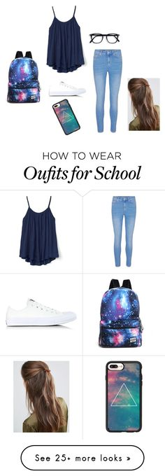 """""""Going to school!"""" by lianna67 on Polyvore featuring Gap, Converse, DesignB London and Casetify"""