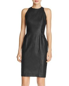French Connection Canterbury Faux-Leather Sheath Dress