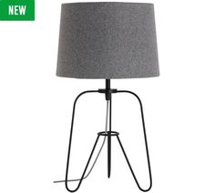 Buy Collection Herbert Tripod Table Lamp - Black & Grey at Argos.co.uk, visit Argos.co.uk to shop online for Table lamps, Lighting, Home and garden