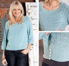 Пуловер с чередованием полос - схема вязания спицами. Вяжем Пуловеры на Verena.ru