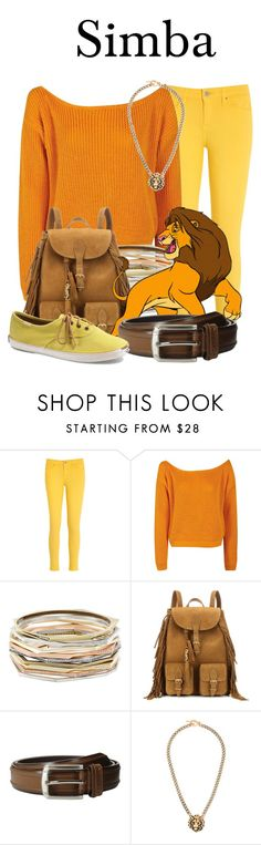 """Simba"" by megan-vanwinkle ❤ liked on Polyvore featuring Tommy Hilfiger, Boohoo, Kendra Scott, Yves Saint Laurent, Stacy Adams and Keds"