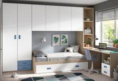 Tiny Bedroom Design, Bedroom Cupboard Designs, Teen Bedroom Designs, Small Room Design, Small Room Bedroom, Home Room Design, Home Office Design, Home Bedroom, Baby Bedroom Furniture