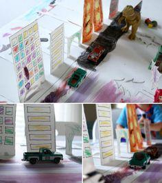 create a popup city ..kid art