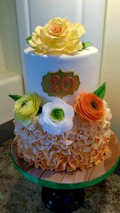 80th birthday cake by LoriS