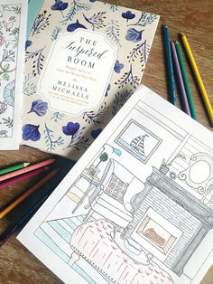 A new coloring book for house and home lovers! // The Inspired Room Coloring Book