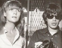 Mick Jagger and Chrissie Shrimpton in Los Angeles.