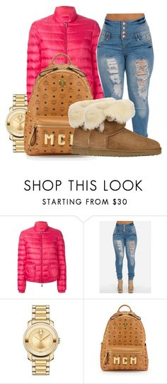 """""""Untitled #401"""" by sipping-gold ❤ liked on Polyvore featuring Moncler, Movado, MCM and UGG Australia"""