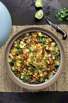Thug Kitchen Promises Its One-Pot Indian Dish - One-Pot Chickpea Biryani Is Fast indian food recipes Indian Food Recipes, Whole Food Recipes, Vegetarian Recipes, Healthy Recipes, Ethnic Recipes, Arabic Recipes, Vegetarian Dish, Yummy Recipes, Rice Recipes