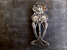 Antique French Art Nouveau / metal door plaque by ParisRomaNYflea
