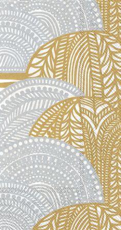 Marimekko Vuorilaakso Paper Guest Towels Gold/Silver