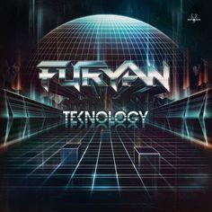 "Cover for ""Furyan - Teknology"". 80's retro sci-fi artwork rocks!! - http://www.dokodemo.nl/"