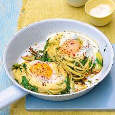 Kräuternudeln mit Ei Rezept | Küchengötter