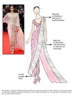 Sonam Kapoor pink saree #DIY