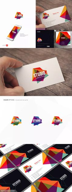 Abstract Creative Studio Logo Template AI, EPS #unlimiteddownloads