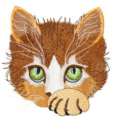 Cute Kitty free embroidery - Animals free machine embroidery design - Machine embroidery forum
