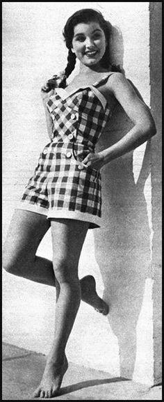 Debra Paget. This is how a romper should look, not all square and shapeless.
