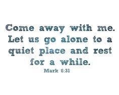 free printable of Mark 6:31