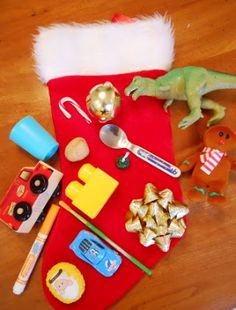 What's in the stocking game (like Ned's Head).  Artic/Phonology, language, fluency, ......
