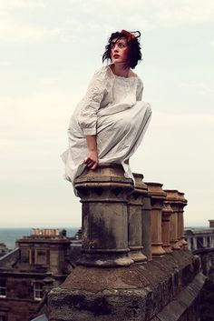 Straight on til morning, by Gillian Gamble. Inspired by Peter Pan, this shot really was taken on the roof of a 4-level building in St Andrews. It was wonderful and windy!