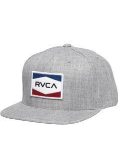 e64eba0ceaa RVCA Nations Snapback Hat in Grey Noise