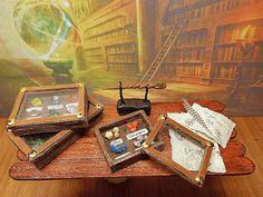 Il Collezionista  1  Miniatura teca minerali casa di PiccoliSpazi
