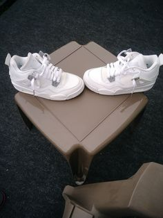 low priced 03903 16d28 All White Jordan 4  fashion  clothing  shoes  accessories   kidsclothingshoesaccs  boysshoes