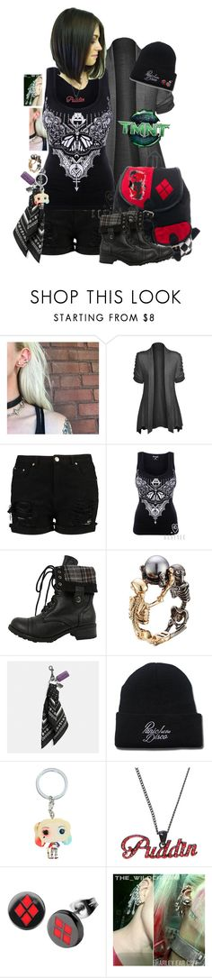 """Tmnt OC ""Josie Jones, She's a Harley Girl"""" by tina-cappuccino92 ❤ liked on Polyvore featuring Hot from Hollywood, Alexander McQueen, Coach, Hot Topic and DC Comics"