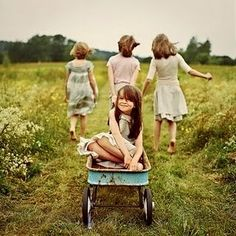family picture idea with wagon from Uncle Bobby