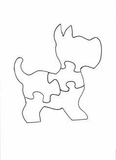 Scotty Dog Puzzle scroll saw patterns