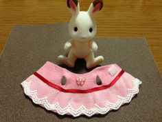 ももいろウサギとフェルト服。 | シルバニアと私。