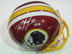 Robert Griffin III Washington Redskins Rookie Signed Autographed Mini Helmet Authentic Certified Coa by riddell. $129.99. Buying a great autographed mini helmet hand signed great piece to add with a collection. Comes with Coa and 100% satisfaction.