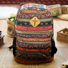 Cool! Folk Style Geometry Totem Canvas Backpack just $32.99 from ByGoods.com! I can't wait to get it!