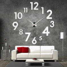 """Zegar """"Do It Yourself"""" do własnoręcznego montażu jest modnym dodatkiem każdego mieszkania oraz biura. Idealny prezent dla osób ,które mają już wszystko. Ostateczna wielkość zegara zależy od..."""