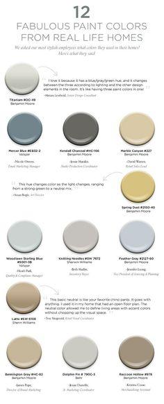 Paint Color Ideas. Paint Color and Color Palette Ideas for Real Homes. #ColorPalette #PaintColorIdeas Via How To Decorate.
