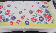 Vintage Table Cloth by CraftyRedesigns on Etsy