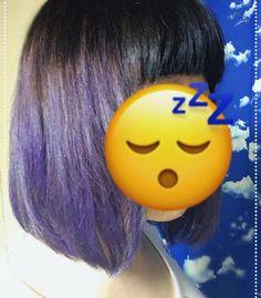 WEBSTA @ kouri0106 - いい具合に色が入って一安心!今回試しにライラックで入れてみたんだけどベースが色落ちしたままのやや赤みある明るい茶だったからかいい具合に紫!所々は青紫www#マニパニ  #パープルカラー  #セルフカラー
