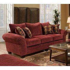 Chelsea Home Furniture Clearlake Queen Sleeper Sofa Burgundy