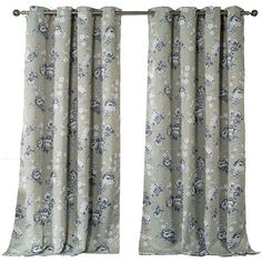 Kensie Nelliebee Pair Panel Curtains in Grey-Latte ($60) ❤ liked on Polyvore featuring home, home decor, window treatments, curtains, gray window treatments, grey floral curtains, gray grommet curtains, grey curtains and kensie