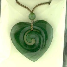 Jade pendant - Jade jewelry - Jewel of the Lotus $120