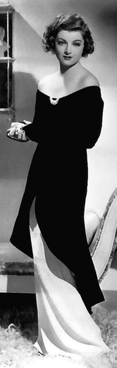 Myrna Loy's gown - circa 1930s - great neckline