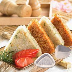 Easy Rice Ball Shaker Onigiri lunch Maker Sushi Molds Shake DIY Kitchen Tool-G#
