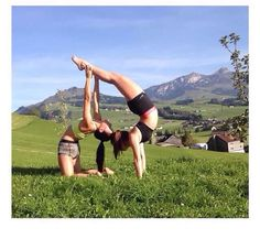 Handstand and Backbend Partner Combo