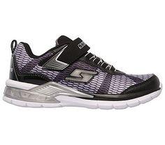 Skechers Kids' Erupters II Lava Waves Sneaker Pre/Grade School Shoes (Black/Gray/Silver)