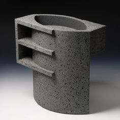 Wim Borst's ceramic works are a distillation of Dutch abstraction: the paintings of Piet Mondrian, the design of Gerrit Rietveld and the art of Theo van Doesburg. Ceramic Teapots, Ceramic Cups, Ceramic Pottery, Ceramic Art, Light Vs Dark, Brutalist, Sculpture Art, Ceramic Sculptures, Light And Shadow