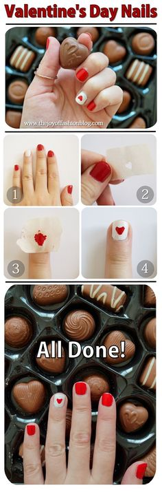 The Joy of Fashion: {Beauty}: Easy Valentine's Day Nails Tutorial