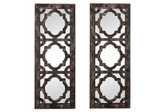 Mara Mirror Set on OneKingsLane.com for behind sofa OR placed on either side of armoire