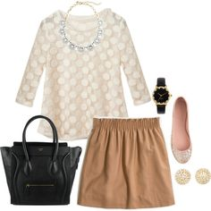 caramel and gold - Polyvore